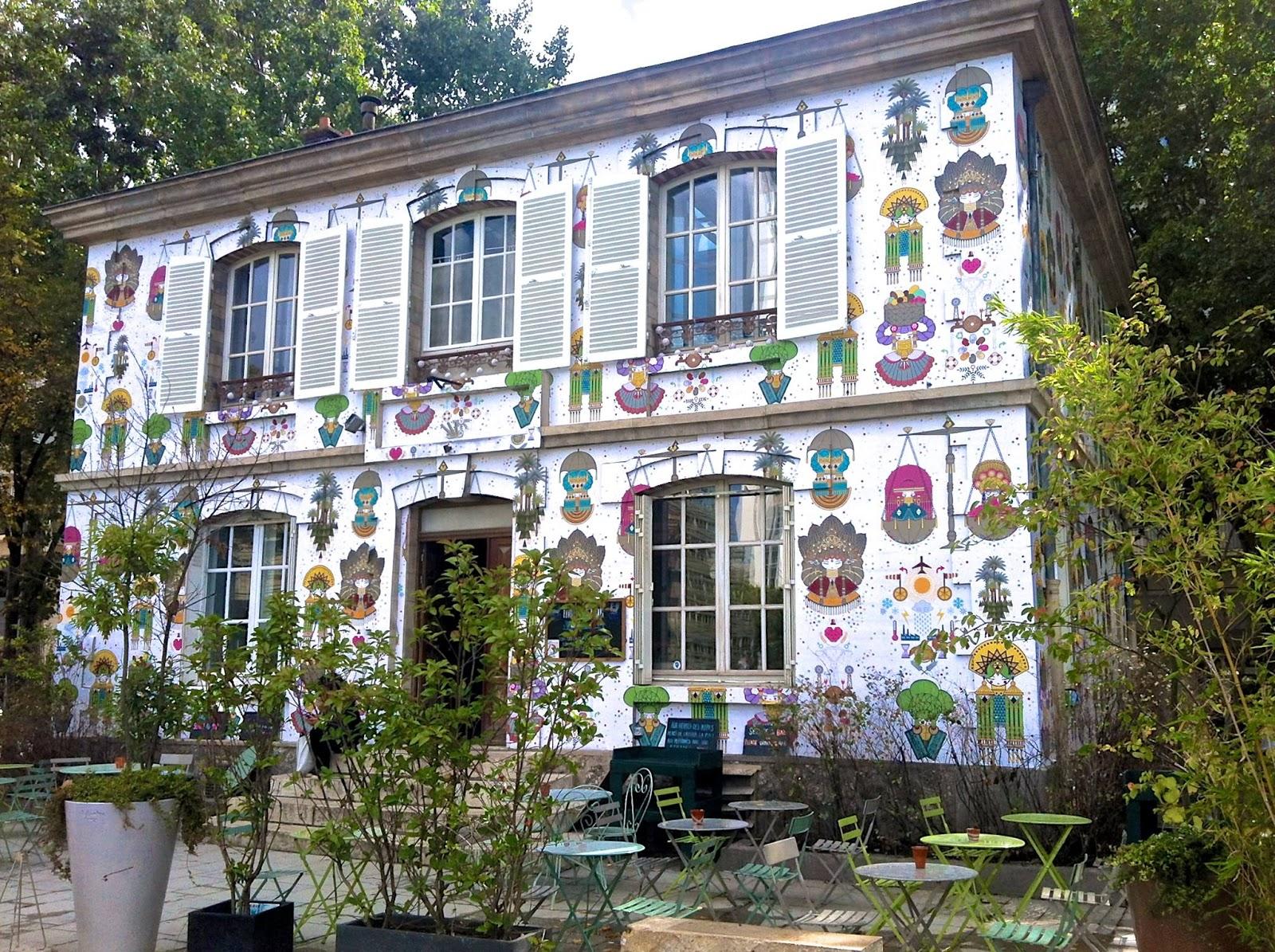 façade papier peint temporaire