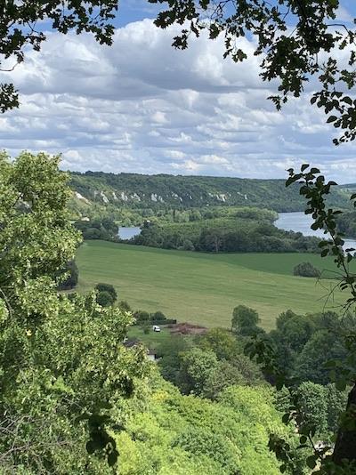 Vue panoramique sur les méandres de la Seine La Roche-Guyon