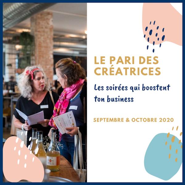 Le Pari des créatrices des soirées pour booster son business. Le Quai des Possibles, Saint Germain en Laye 23 septembre 20.