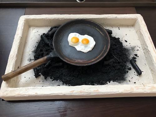 Dernier repas à Pompei. Musée de l'Homme
