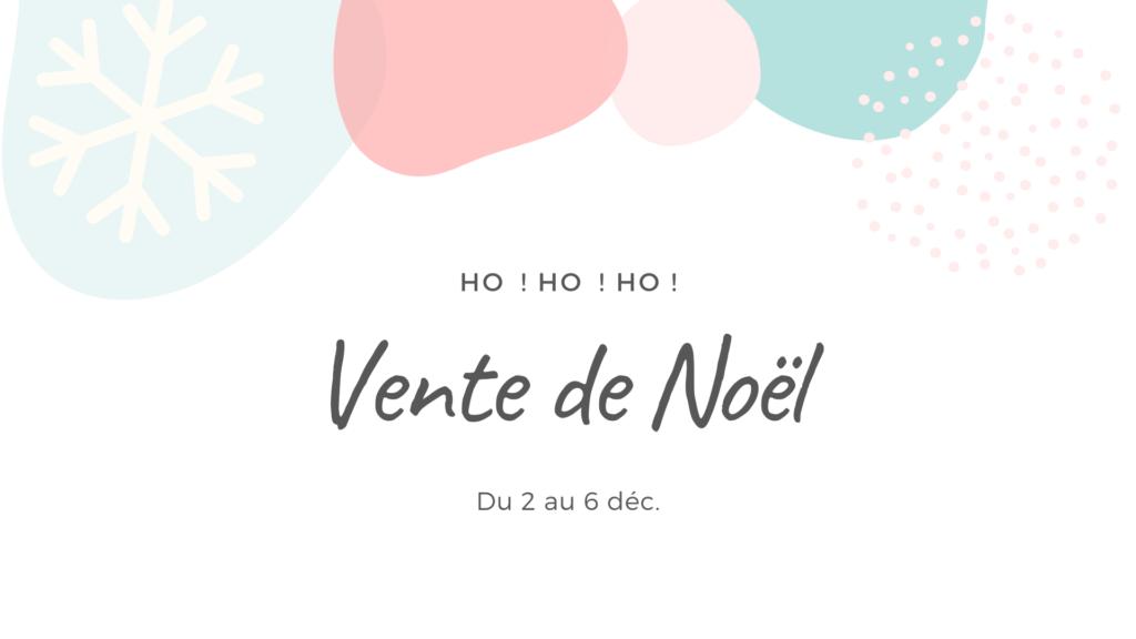 Vente de Noël en ligne de créateurs locaux