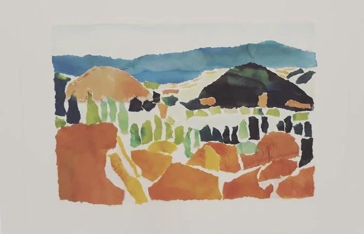 Roussillon, encre et collage
