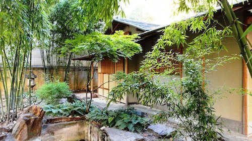 jardin japonais de l'hôtel Heildelbach