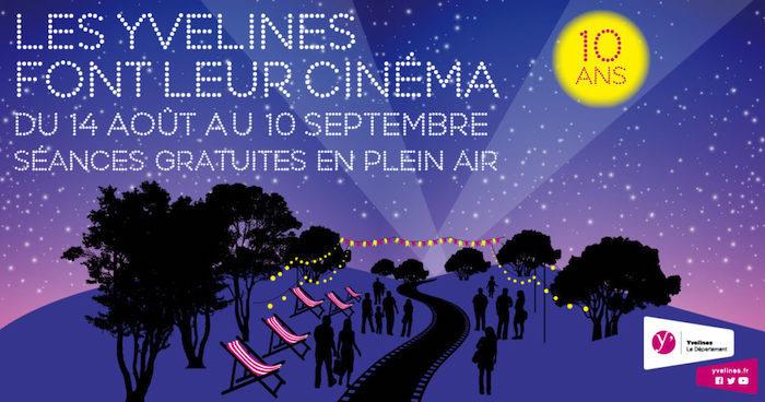 Affiche cinema plein air Yvelines